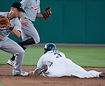 Action from the Reno Aces vs Sacramento River-Cats game played on Saturday night, April 21, 2012 in Reno, Nevada.