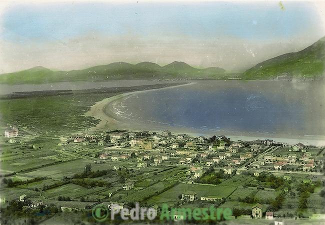 DESTRUCCION A TODA COSTA 2010 (DTC2010) Vista Panoramica de Laredo, Cantabria. Aprox 1945. © Colección personal Pedro Armestre