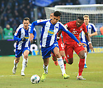 19.01.2020, OLympiastadion, Berlin, GER, DFL, 1.FBL, Hertha BSC VS. Bayern Muenchen, <br /> DFL  regulations prohibit any use of photographs as image sequences and/or quasi-video<br /> im Bild Davie Selke (Hertha BSC Berlin #27), David Alaba (FC Bayern Muenchen #27)<br /> <br />       <br /> Foto © nordphoto / Engler