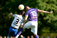 NORG - Voetbal, FC Groningen - SV Meppen, voorbereiding seizoen 2018-2019, 13-07-2018, kopduel FC Groningen speler Mimoun Mahi met Janik Jesgarzewski