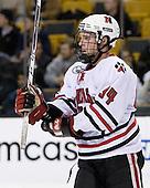 Tyler McNeely (NU - 94) - The Harvard University Crimson defeated the Northeastern University Huskies 3-1 on Monday, February 4, 2008, in the opening game of the 2008 Beanpot at TD Banknorth Garden in Boston, Massachusetts.