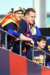 League Santander 2017/2018.<br /> Rua de Campions FC Barcelona.<br /> Sergi Roberto &amp; Marc-Andre Ter Stegen.