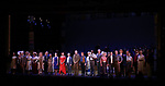 "Britney Coleman, Nancy Opel, Tam Mutu, Alexandra Socha, Bebe Neuwirth, Vanessa Williams,  Joel Grey, Bob Martin, Carolee Carmello, Clifton Duncan,  Douglas Sills, Clyde Alves, Marc Kudisch, and Judy Kuhn during the final performance curtain call for the New York City Center Encores! at 25 production of  ""Hey, Look Me Over!"" on February 11, 2018 at the City Center Theatre in New York City."