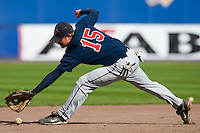 14 September 2009: Third base Christopher Falls of Great Britain is seen on defense during infield practice prior to the 2009 Baseball World Cup Group F second round match game won 15-5 by South Korea over Great Britain, in the Dutch city of Amsterdan, Netherlands.