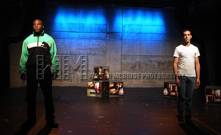 Patrick Byas & Dan Heching.starring in Dan Heching Presents 'Sammy Gets Mugged'.at the Living Theatre in New York City.