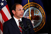 Robert McDonald, retired Chairman, President and CEO of Procter & Gamble, following United States President Barack Obama's (not pictured) announcement of his intention to nominate McDonald to be Secretary of the Department of Veterans Affairs in Washington, D.C. on June 30, 2014.  <br /> Credit: Dennis Brack / Pool via CNP