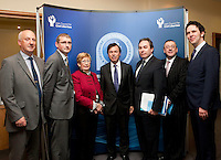 "**** NO FEE PIC***.12/04/2012 .(L to r) Ray McAndrew,Chair of the Commission for the Support of Victims of Crime.Dr. Shane Kilcommins UCC,.Gillian Hussey Chair of Crime Victims Helpline,.Minister for Justice, Equality & Law Reform Alan Shatter TD.Mark Kelly ICCL Director.David McKenna President of Victim Support Europe,.Prof Anthony Pemberton International Victimology Institute Tilburg.during a conference on the ""The EU Directive on Victims Rights: Opportunities and Challenges for Ireland"" hosted by the the Irish Council for Civil Liberties (ICCL) in Dublin Castle..Photo: Gareth Chaney Collins"