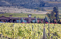 Lake Chelan's Tsillan Cellars sits in the middle of its vineyards.