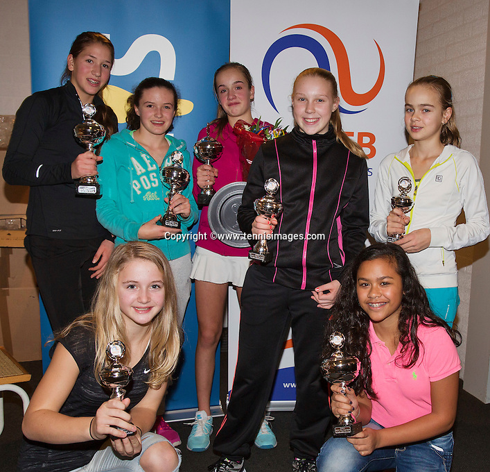 Almere, Netherlands, December 6, 2015, Winter Youth Circuit, Winner girls 14 years: <br /> Photo: Tennisimages/Henk Koster