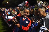 Boyds, MD - Saturday September 30, 2017: Mallory Pugh, fans during a regular season National Women's Soccer League (NWSL) match between the Washington Spirit and the Seattle Reign FC at Maureen Hendricks Field, Maryland SoccerPlex.