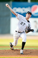 Starting pitcher Matt Heidenreich #27 of the Bristol White Sox in action against the Bluefield Orioles at Boyce Cox Field August 27, 2010, in Bristol, Tennessee.  Photo by Brian Westerholt / Four Seam Images