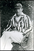 BNPS.co.uk (01202 558833)<br /> Pic: Pen&amp;Sword/BNPS<br /> <br /> Lieutenant Geoffrey Bevington Legge was &lsquo;The first test cricketer to be killed in the war&rsquo;, he made 147 first class appearances and served in the Royal Naval Air Service he died 21 November 1940, aged 37.<br /> <br /> The tragic stories of the 10 test players and 130 first class cricketers who lost their lives in the Second World War are told in a fascinating new book.<br /> <br /> The outbreak of the war prompted cricketers to swap their whites for uniform and pitch up at the various battlegrounds of the conflict to do their duty.<br /> <br /> Many cricketers excelled themselves in combat - distinguishing themselves with their bravery and their intelligence.<br /> <br /> In The Coming Storm, screenwriter Nigel McCrery reveals each man's career details, including cricketing statistics and the circumstances of death.