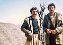 Iraq 1980 .In Toujala, right, Arsalan Baez and left, Yousif Zozan  .Irak 1980 .A Toujala, a droite, Arsalan Baez et  a gauche,Yousif Zozan