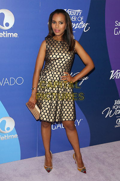 Jessica Alba<br /> at Variety's 5th Annual Power of Women event presented by Lifetime at the Beverly Wilshire Four Seasons Hotel in Beverly Hills, California, USA, October 4th 2013.<br /> full length gold discs patterned dress black clutch bag hand on hip beige clutch bag nude <br /> CAP/MPI/mpi25<br /> &copy;mpi25/MediaPunch/Capital Pictures