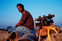 Portrait of an Indian fisherman. India.
