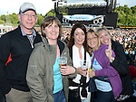 John Daly, Mags Daly, Mary Donoghue, Sarah Lehane and Sharon Scally pictured at the Bon Jovi concert at Slane Castle. Photo:Colin Bell/pressphotos.ie