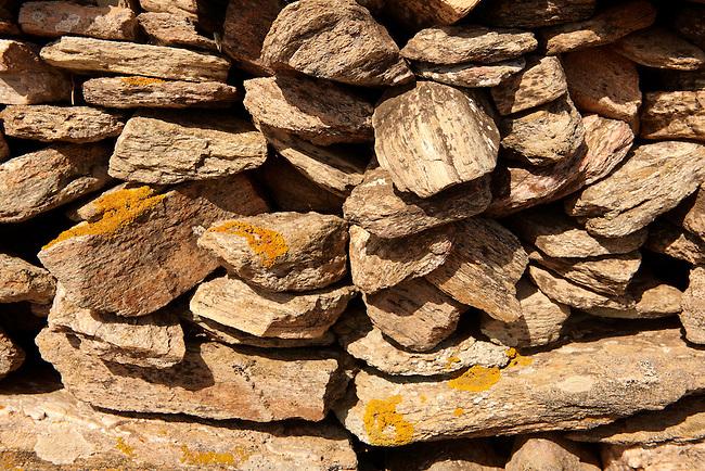 Dry stone wall on the Greek Island of Ios, Greece