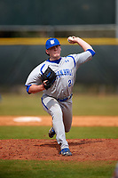 Seton Hall Pirates relief pitcher Anthony Pacillo (21) delivers a pitch during a game against the Indiana Hoosiers on March 5, 2016 at North Charlotte Regional Park in Port Charlotte, Florida.  Seton Hall defeated Indiana 6-4.  (Mike Janes/Four Seam Images)