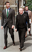 Prince Felipe de Borbon y Grecia of Spain walks on the Georgetown University campus with President Leo J. O'Donovan, S.J. on in Washington, D.C. on March 23, 1999..Credit: Ron Sachs / CNP