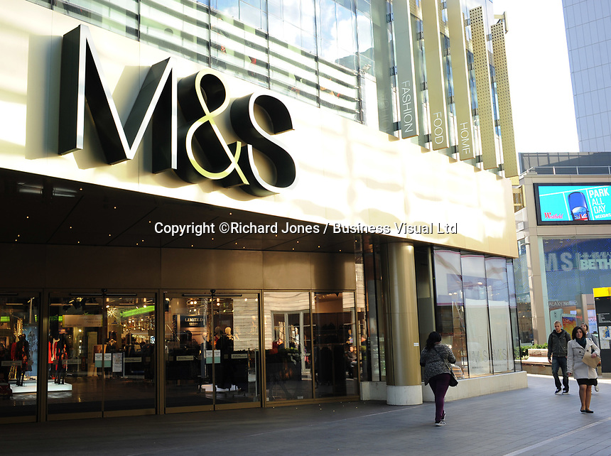 British retailer Marks and Spencer in London, UK<br /> 04-Nov-2013