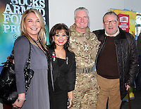 Ray Winstone and Amanda Redman with Cllr Mimi Harker and Brigadier Bill O'Leary at the Bravo 22 launch at the Waterside Theatre, Aylesbury, Buckinghamshire on January 17th 2015<br /> <br /> Photo by Keith Mayhew