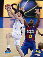 Real Madrid's Rudy Fernandez (l) and FC Barcelona Regal's Pete Mickeal during Spanish Basketball King's Cup match.February 07,2013. (ALTERPHOTOS/Acero) /Nortephoto