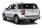 Car pictures of rear three quarter view of a 2018 Ford Expedition Limited 5 Door SUV angular rear
