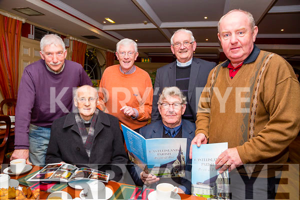At the Launch of the Castleisland parish magazine for 2015/2016 at the River Island Hotel on Thursday  were l-r  Denis O'Connor, Fr Pat Ahern, Brian Caball, Nicky McAuliffe, Fr Dan O'Riordan and Eamon O'Connor.