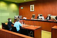 Nederland - Lelystad - 2017.  Open dag bij de Rechtbank in Lelystad. Tijdens de open dag kan men onder andere een nagespeelde zitting bijwonen of een rondleiding door het gebouw volgen. Voogdijzaak in de rechtszaal.  Foto mag alleen gepubliceerd worden als uit het bijschrift blijkt dat het een nagespeelde zitting betreft.   Foto Berlinda van Dam / Hollandse Hoogte