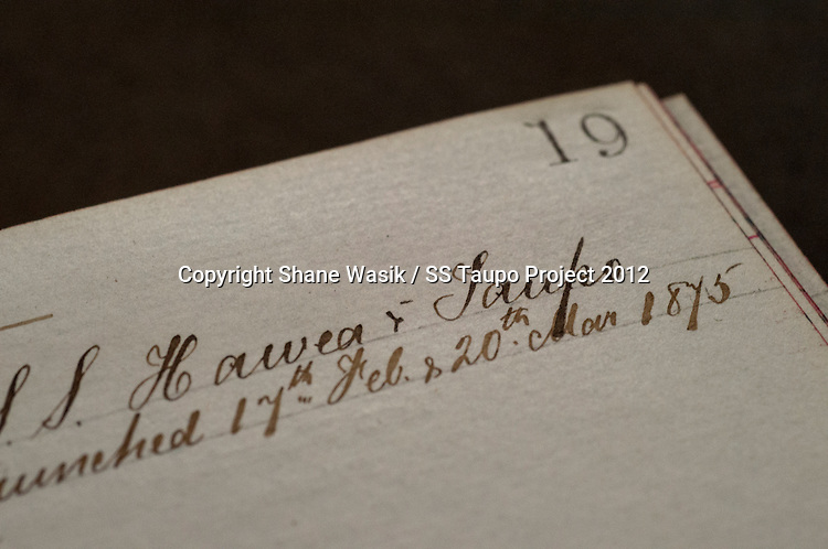 Extract from the archives of Denny Bros shipbuilders of Dumbarton, Scotland. This record following the building of the sister ships Hawea & Taupo (Photo by Shane Wasik Photography)