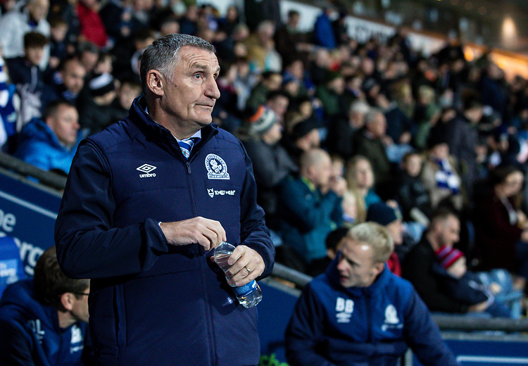 Blackburn Rovers' manager Tony Mowbray  <br /> <br /> Photographer Andrew Kearns/CameraSport<br /> <br /> The EFL Sky Bet Championship - Blackburn Rovers v Nottingham Forest - Tuesday 1st October 2019  - Ewood Park - Blackburn<br /> <br /> World Copyright © 2019 CameraSport. All rights reserved. 43 Linden Ave. Countesthorpe. Leicester. England. LE8 5PG - Tel: +44 (0) 116 277 4147 - admin@camerasport.com - www.camerasport.com