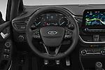 Car pictures of steering wheel view of a 2019 Ford Fiesta  Active-3 5 Door Hatchback