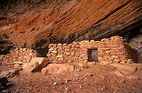 Ruins of ancient indian pueblo, Red Rock-Secret Mountain Wilderness Area, Coconino National Forest, Sedona, Arizona, AGPix_0393.