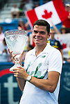 Milos Raonic (CAN) wins his first Citi Open after defeating fellow countryman Vasek Pospisil in the final by 61 64 in Washington, DC on August 3, 2014.