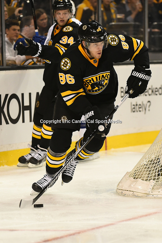 January 13, 2015 - Boston, Massachusetts, U.S. - Boston Bruins defenseman Kevan Miller (86) in game action during the NHL match between the Tampa Bay Lightning and the Boston Bruins held at TD Garden in Boston Massachusetts. Boston defeated Tampa Bay 4-3 in regulation time. Eric Canha/CSM