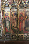 The Transfiguration of Christ, medieval rood screen paintings, St Andrew church, Westhall, Suffolk, England, UK
