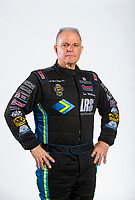 Feb 6, 2020; Pomona, CA, USA; NHRA funny car driver Tim Wilkerson poses for a portrait during NHRA Media Day at the Pomona Fairplex. Mandatory Credit: Mark J. Rebilas-USA TODAY Sports