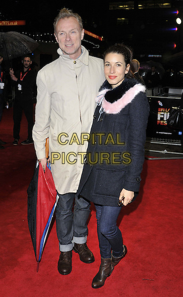 LONDON, ENGLAND - OCTOBER 12: Gary Kemp &amp; Lauren Kemp attend the &quot;The Keeping Room&quot; Official Competition screening, 58th LFF day 5, Odeon West End cinema, Leicester Square, on Sunday October 12, 2014 in London, England, UK. <br /> CAP/CAN<br /> &copy;Can Nguyen/Capital Pictures
