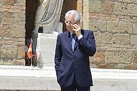 Roma, 22 Giugno 2012.Villa Madama.Vertice quadrilaterale su Eurozona con i leader di Italia, Francia, Germania e spagna.Nella foto, Mario Monti