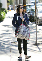 Michelle Trachtenberg was seen leaving a hair salon with wet hair and a to-die-for Stella McCartney Fababella Large Eco Python Shouder Bag. Los Angeles, California on 29.06.2012..Credit: Correa/face to face/MediaPunch/*NortePhoto*<br />