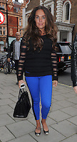 Tamara Ecclestone,the 28-year-old daughter of Formula One boss Bernie Ecclestone, pictured with a male companion out for lunch in Mayfair, London, UK. 09/11/2012.<br /> (Photo: BlueStar/OIC kap1003/NortePhoto