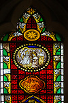 Stained glass window, Claydon church, Suffolk, England, UK c 1852 George Drury and RB King