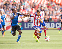 San Francisco, California - Sunday, July 27, 2014: Atletico Madrid and San Jose Earthquakes during a Copa Euroamericana match at Candlestick Park