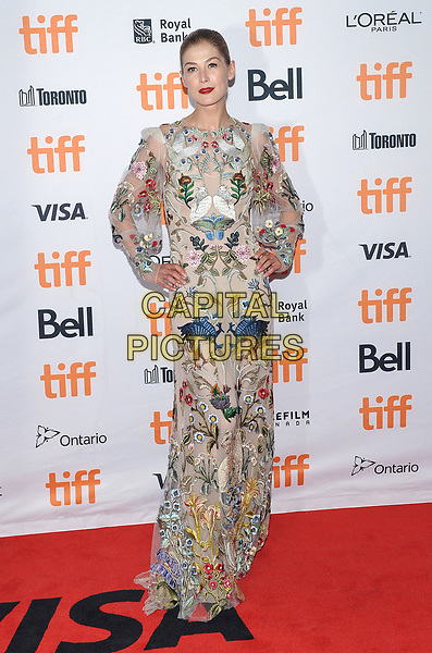 11 September 2017 - Toronto, Ontario Canada - Rosamund Pike. 2017 Toronto International Film Festival - &quot;Hostiles&quot; Premiere held at Princess of Wales Theatre. <br /> CAP/ADM/BPC<br /> &copy;BPC/ADM/Capital Pictures