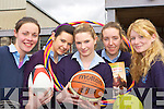 St Joesphs Presentation Secondary school Castleisland LCVP class who presented a cheque for EUR500 to St Vincent de Paul in the school on Tuesday the girls raised the money by running a sports day ant table quiz l-r: Elaine O'Connor, Mairead O'Sullivan, Ann Marie Barrett Sinead Kirwan and Deirdre Doody
