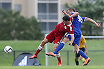 13 January 2015: Ignacio Maganto (Iona College) (ESP) (left) and Connor Brandt (San Diego) (48). The 2015 MLS Player Combine was held on the cricket oval at Central Broward Regional Park in Lauderhill, Florida.