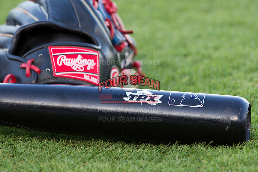 TPX baseball bat on July 20, 2012 at the Dell Diamond in Round Rock, Texas. (Andrew Woolley/Four Seam Images).
