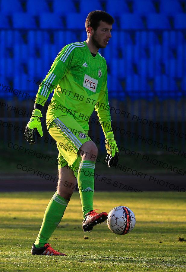 Fudbal Jelen Super League season 2015-2016<br /> Spartak v Partizan<br /> Goalkeeper Filip Kljajic<br /> Subotica, 29.11.2015.<br /> foto: Srdjan Stevanovic/Starsportphoto&copy;