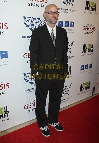 MOBY (Richard Melville Hall).Davey Detail. 26th Genesis Awards held at The Beverly Hilton Hotel, Beverly Hills, California, USA..March 24th, 2012.full length black suit glasses beard facial hair.CAP/ADM/RE.©Russ Elliot/AdMedia/Capital Pictures.