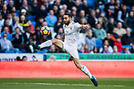 Daniel Carvajal Ramos of Real Madrid in action during the La Liga 2017-18 match between Real Madrid and RC Deportivo La Coruna at Santiago Bernabeu Stadium on January 21 2018 in Madrid, Spain. Photo by Diego Gonzalez / Power Sport Images
